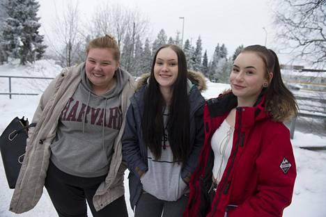 Verna, Emilia ja Iida.