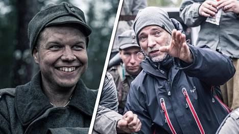 Aku Louhimiehen (oik.) Tuntemattomasta sotilaasta työstetään vuoden sisällä kolme eri versiota: Suomen teatteriversio, lyhyempi kansainvälinen versio ja pidempi tv-sarjaversio. Vasemmalla sotamies Vanhala (Hannes Suominen).