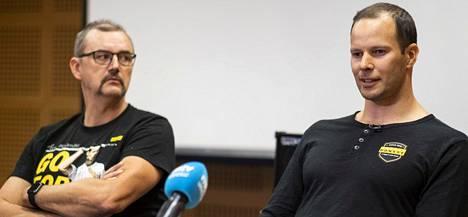 Hannu Kangas (vas.) on valmentanut Tero Pitkämäkeä.