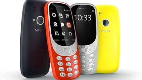 """Tulevat Nokia-puhelimet kiinnostavat ostajia. Teleoperaattori Elisa odottaa 3310-mallista """"statement-puhelinta""""."""