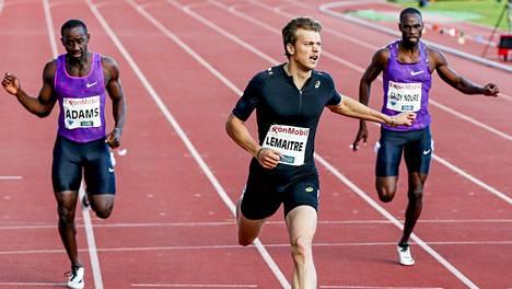 Jaysuma Saidy Ndure kilpaili 200 metrillä Timanttiliigan Oslon osakisassa kesäkuussa.