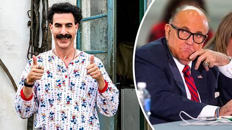 Rudy Giuliani (oik.) esiintyy uudessa Borat-elokuvassa kyseenalaisessa valossa.