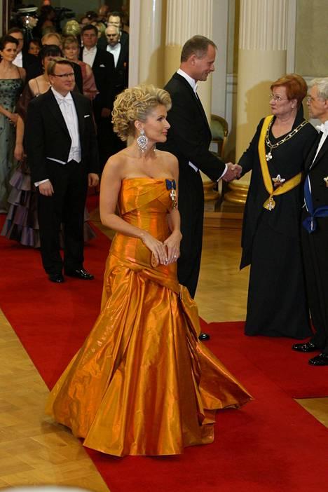 Tanja Karpela vuoden 2008 juhlissa.
