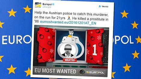 Europolin kalenterin ensimmäisessä luukusta kurkistaa itävaltalainen Tibor Foco, joka on etsintäkuulutettu murhasta.
