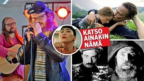 Rakkautta & Anarkiaa -elokuvafestivaalin tärppeihin kuuluvat elokuvat Mystinen metsätyömies, Nina Wu (pikkukuva), A Hidden Life (oikealla ylhäällä) sekä The Lighthouse.