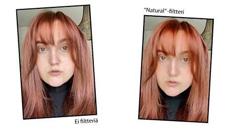 Katariinan somevirrassa ihoa tasoittava Natural -filtteri oli kaikista suosituin.