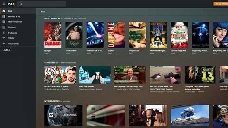 Plexiä voi katsella Chrome-selaimella. Kuvakaappaus palvelusta.