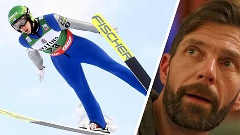 Janne Ahonen ompelee Suomen hyppypuvut tunnollisesti, vaikka tietää käynnissä olevan huijauksen.