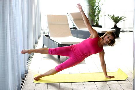 2010: Liikunta on aina ollut Lenalle tärkeä asia.