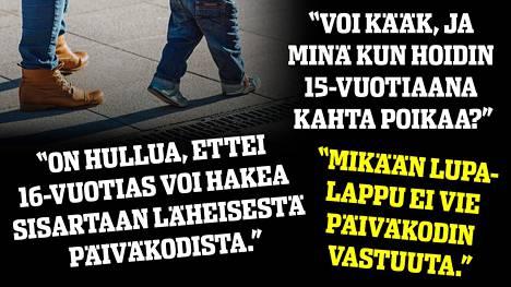 Osa Ilta-Sanomien lukijoista oli sitä mieltä, että päiväkoti toimi aivan oikein, osa taas piti perheenäidin puolta.