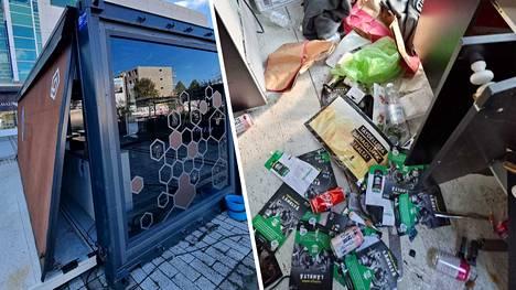 Poliiseja ja ravintolayrittäjää olivat vastassa murtovaras ja tuhansien eurojen tuhot.
