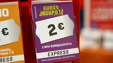 Eurojackpotin jättipotti yhä jakamatta! 5+1 tuloksella voitti yli 2 miljoonaa euroa