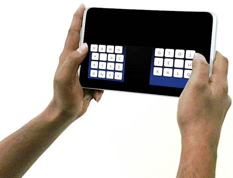 Kalqista saatetaan tarjota vasenkätisille käyttäjille versio, missä kirjainrykelmien paikat on vaihdettu keskenään. Nykyisellään vokaalit ovat enimmäkseen oikealla.