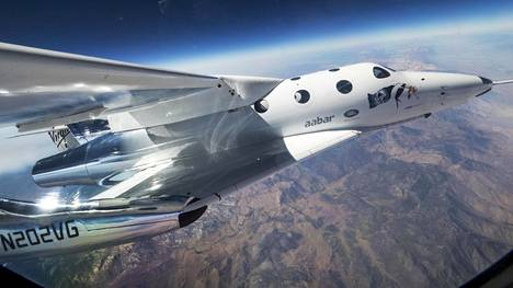 Virgin Galacticin SpaceShipTwo Unity -alus arkistokuvassa vuodelta 2016.