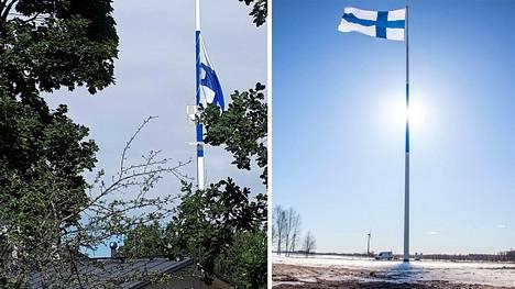 Juhannuspäivän myrskytuuli koitui suurlipun kohtaloksi.