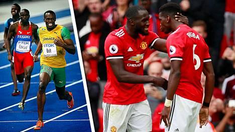 Valioliigaseura Manchester Unitedin tähtipelaajat Romelu Lukaku ja Paul Pogba olivat kovassa vauhdissa kauden avauspelissä. Maailman nopeinta miestä Usain Boltia vastaan heillä ei olisi mahdollisuuksia.