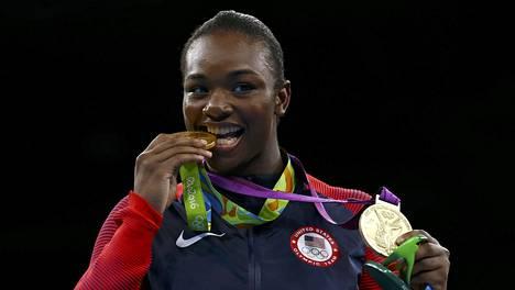 Claressa Shields voitti Riossa 2016 toisen olympiakultansa.
