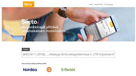 Automatian Siirto-palvelu on Nordean, OP:n ja Danske Bankin yhteisyritys. S-Pankki on sittemmin vetäytynyt palvelun käytöstä.