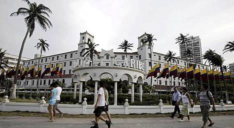 Salaisen palvelun agentit juhlivat tässä El Caribe -hotellissa Cartagenassa.