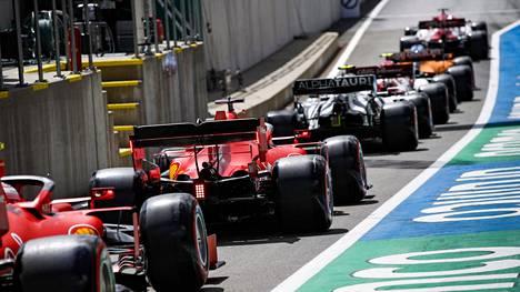 F1-kuplasta on paljastunut ensimmäiset positiiviset koronatartunnat. Kuvituskuva.