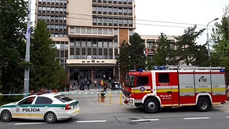 Oikeustalolta Kosicesta löytyi pommi, kertoivat poliisit.