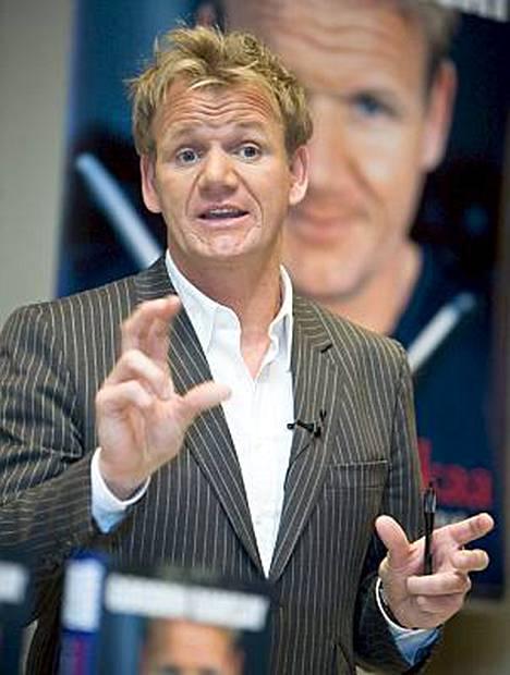 Gordon Ramsay vakuuttaa, ettei hän raivoa ravintoloissa.