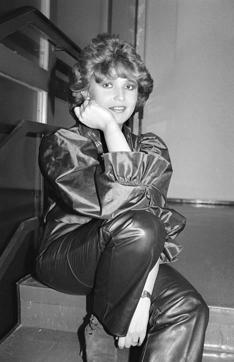 Meiju Suvas kuvattuna noustuaan iskelmätaivaalle vuonna 1983.