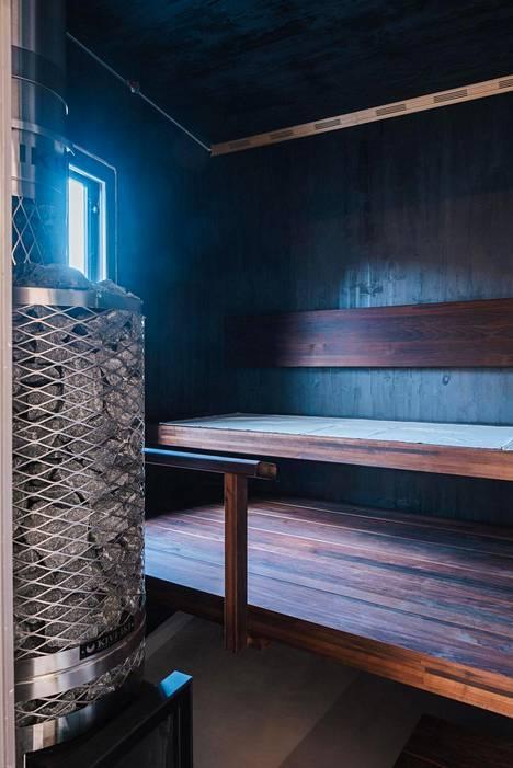 Veljesteco-asuntomessukohteen sauna sai kiitosta muun muassa monipuolisesta puun käytöstä ja vastuullisuudesta.