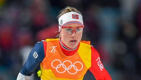 Ragnhild Haga Pyeongchangin olympialaisissa vuonna 2018.