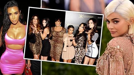 Sisaruksista suosituin on Kylie Jenner (vas.), jota seuraa Instagramissa liki 130 miljoonaa seuraajaa.