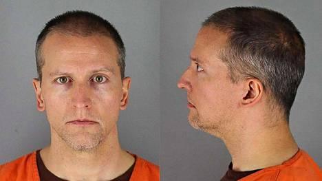 Derek Chauvin vankilaviranomaisten toukokuun lopussa julkaisemissa kuvissa.