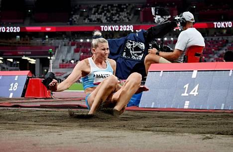 Kristiina Mäkelä nähdään olympiafinaalissa sunnuntaina.