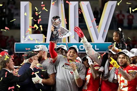 Mahomes johdatti Kansas City Chiefsin Super Bowlin mestaruuteen helmikuussa.