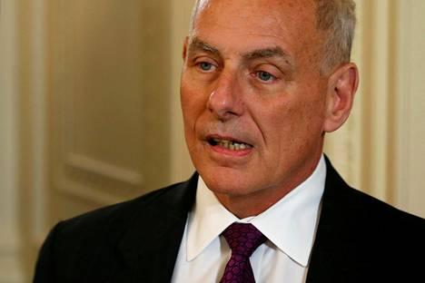 Valkoisen talon tuore kansliapäällikkö John Kelly.