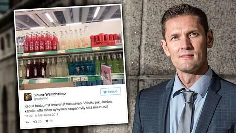 Kokoomuskansanedustaja Sinuhe Wallinheimo haastoi Mauri Pekkarisen (kesk).