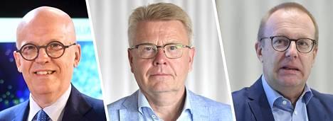 Antti Vasara, Jyri Häkämies ja Jarkko Eloranta.