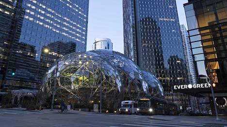 Koronavirus on hiljentänyt Amazonin kampuksen Seattlessa.