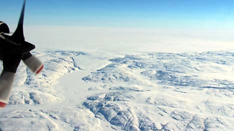 Löytöpaikka sijaitsee Hiawathan jäätiköllä.