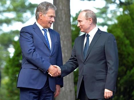 Kuva Niinistön ja Putinin tapaamisesta vuodelta 2016.