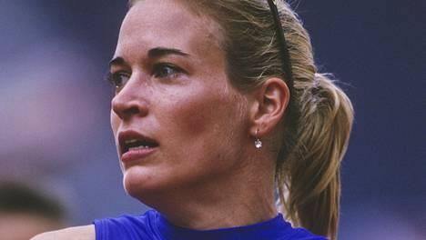 Suzy Favor Hamilton Atlantan 1996 kisojen aikoihin.