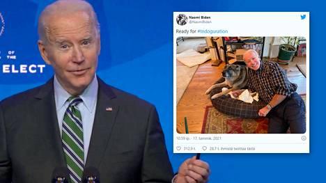 Joe Bidenin Major-koira seuraa isäntäänsä Valkoiseen taloon.