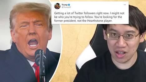 """33-vuotias Jeffrey """"Trump"""" Shih sai tuhansia uusia seuraajia pian sen jälkeen, kun presidentti Trumpin henkilökohtainen Twitter-tili poistettiin."""