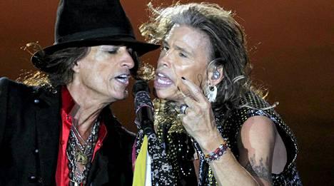 Aerosmith esiintyy tänään Helsingissä.
