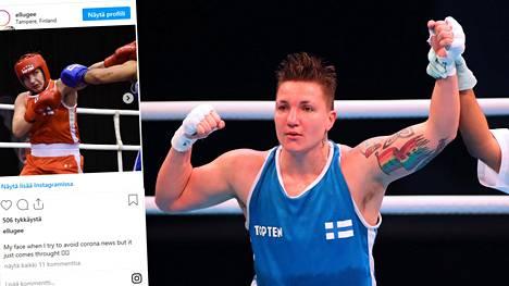 Elina Gustafsson oli yksi Lontoossa otelleista suomalaisnyrkkeilijöistä.