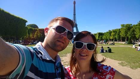Pia ja Jussi suuntasivat ohjelmassa häämatkalle Pariisiin.