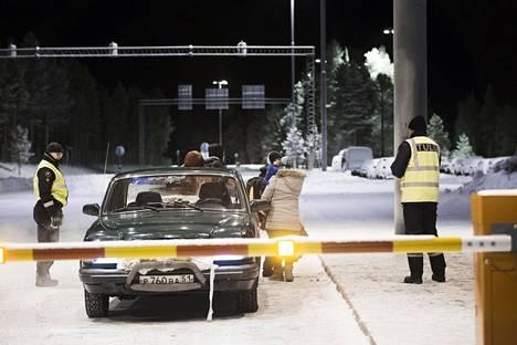Suomeen tuli Venäjältä Sallan ja Raja-Joosepin raja-asemien kautta poikkeuksellisen paljon turvapaikanhakijoita loppuvuodesta 2015 ja alkuvuodesta 2016. Kuva Sallasta.