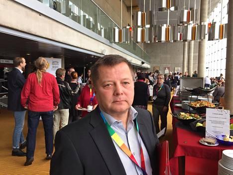 Vasemmistoliiton kansanedustaja Markus Mustajärvi.