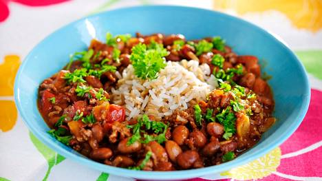 Yksi viikon ruoista on retroklassikko chili con carne.