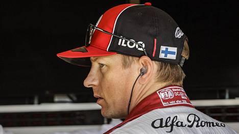 Kimi Räikkönen kuvattuna Barcelonan F1-testeissä.
