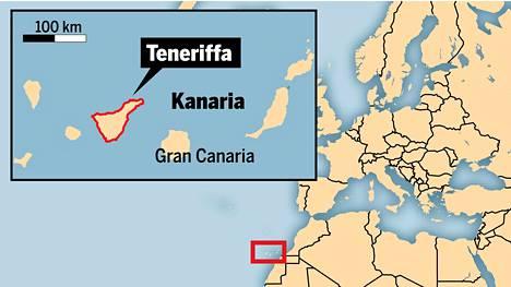 Teneriffalla asuu vakituisesti yli 900 000 ihmistä.